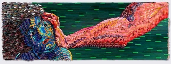 Federico Uribe pinturas feitas com lápis Tentando ajudar 2