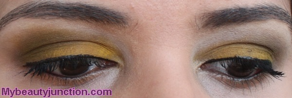 Yellow smoky eye makeup with Sephora Blockbuster palette