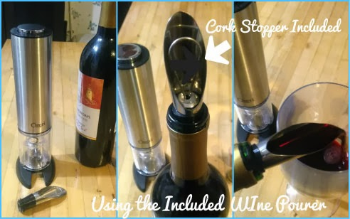 Ozeri Extravo Electric Wine Opener wine pourer