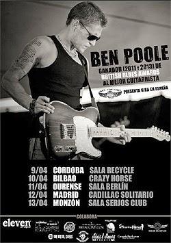 Conciertos de Ben Poole en España