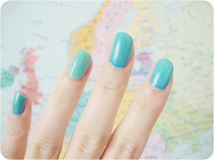 mint, Nails, sky blue