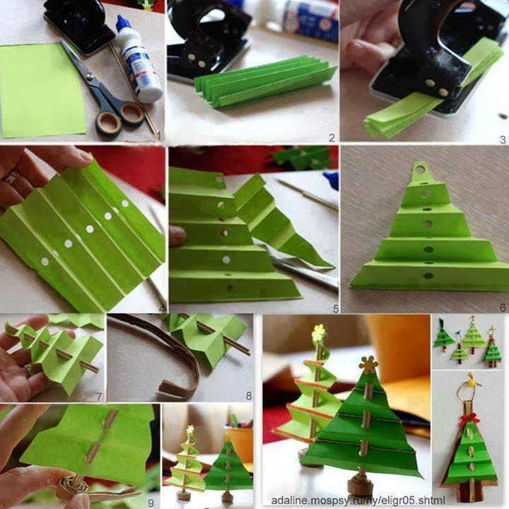 Art N Crafts Ideas Easy Christmas Tree Paper Craft