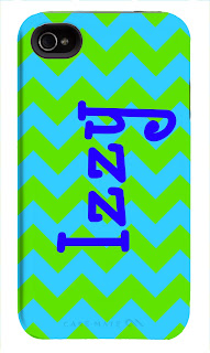 Happy Habitat Custom Design iPhone Case- Zigzag with Name