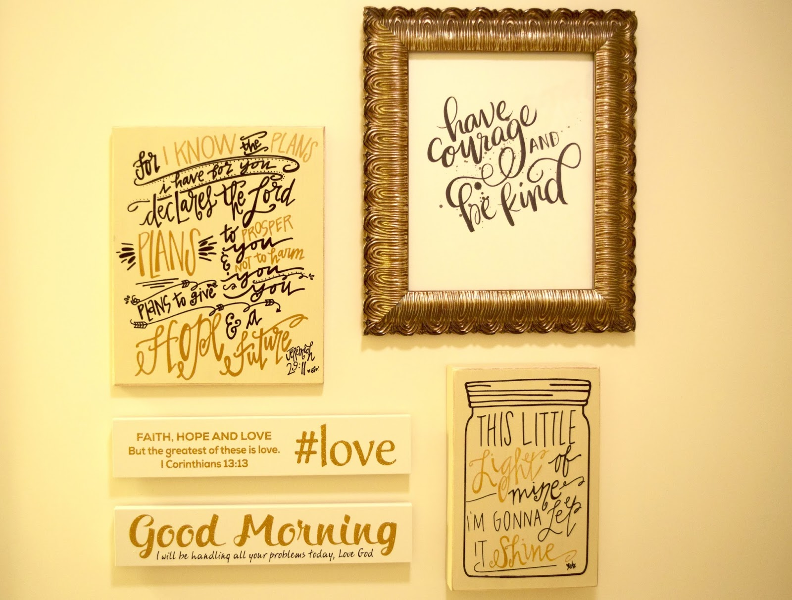 House Tour: Guest Bathroom Blessings Wall | Anchors Aweigh