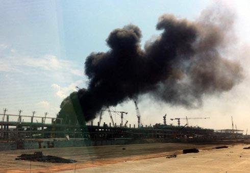 Cháy nhà ga T2 sân bay Nội Bài