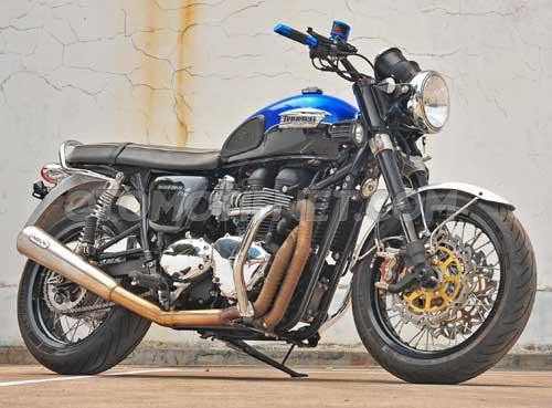 Foto Modifikasi Triumph Bonneville T100 Gahar Cuy