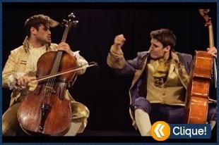 Thunderstruck do AC/DC com 2 violoncelos