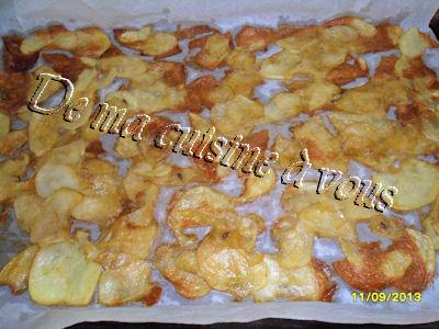 De ma cuisine vous chips maison au four - Chips fait maison au four ...