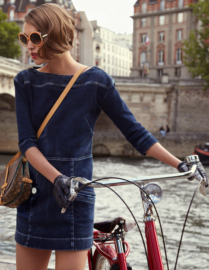 Arizona Muse for Louis Vuitton Cruise 2012 look book / bicycles in Vogue, Harper's Bazaar, Marie Claire, Elle fashion editorials and campaigns / via fashioned by love british fashion blog