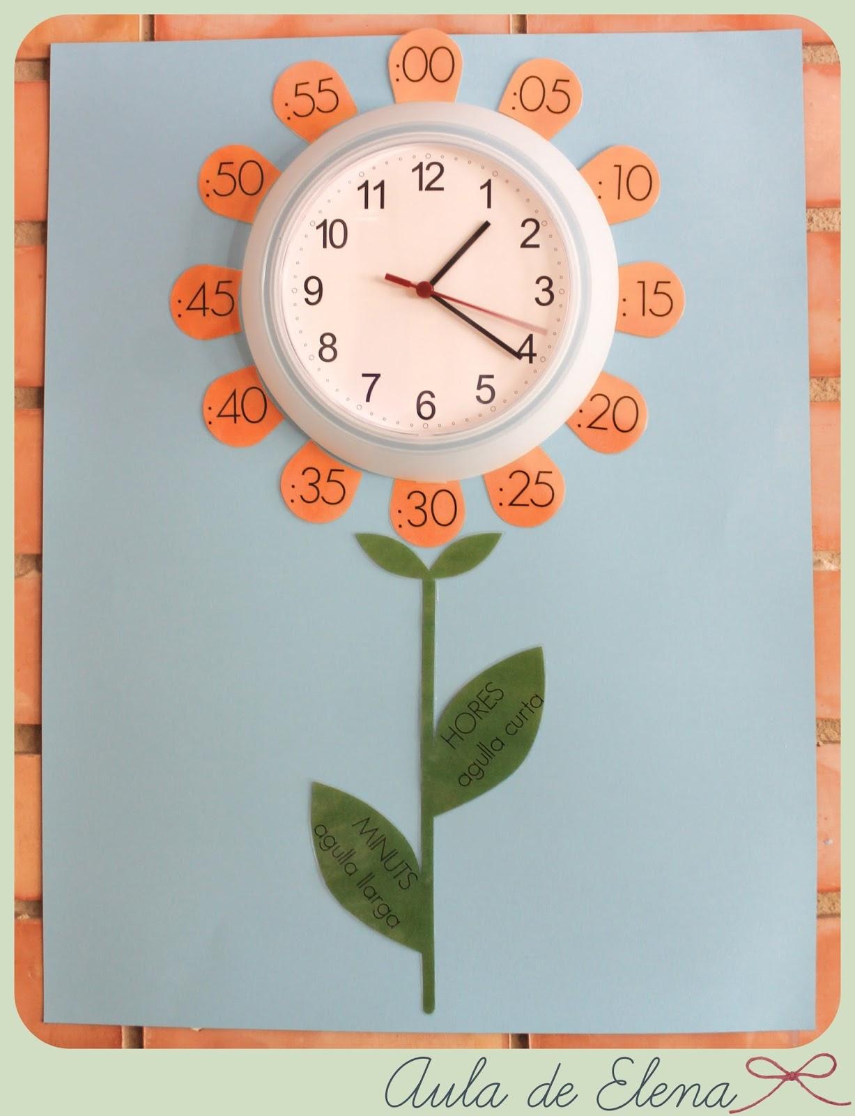 Decoraci n para el reloj del aula aula de elena - Relojes de pared originales decoracion ...