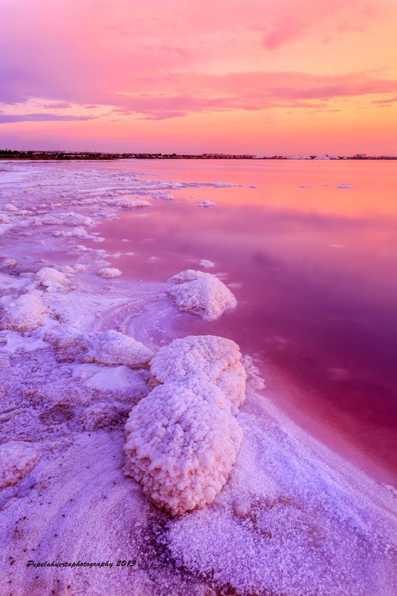 Испания торревьеха розовое озеро фото