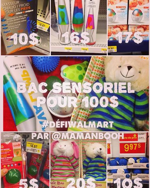 Bac sensoriel pour Noël #DéfiWalmart Julie Philippon Mamanbooh
