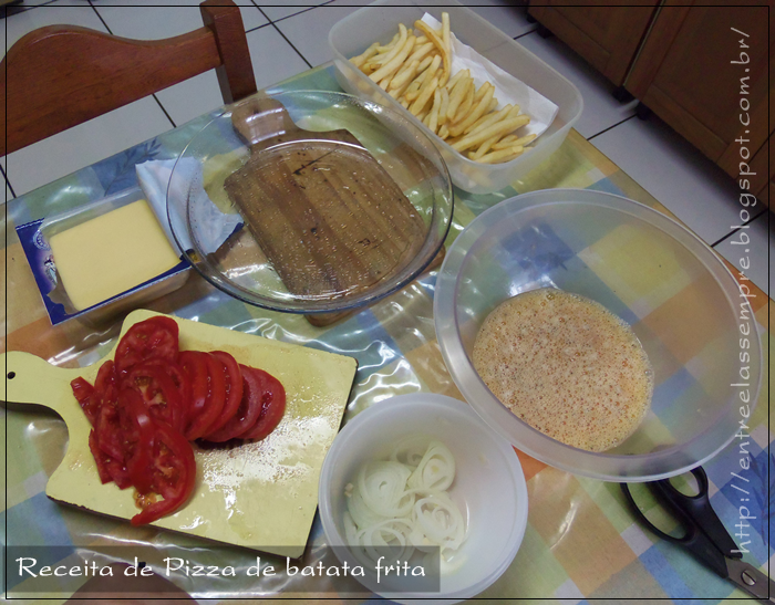 Ingredientes Pizza de batata frita