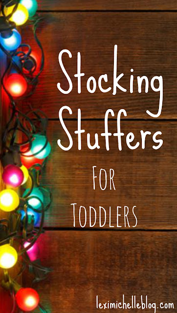 Great list of stocking stuffers for toddlers! Christmas stocking stuffers