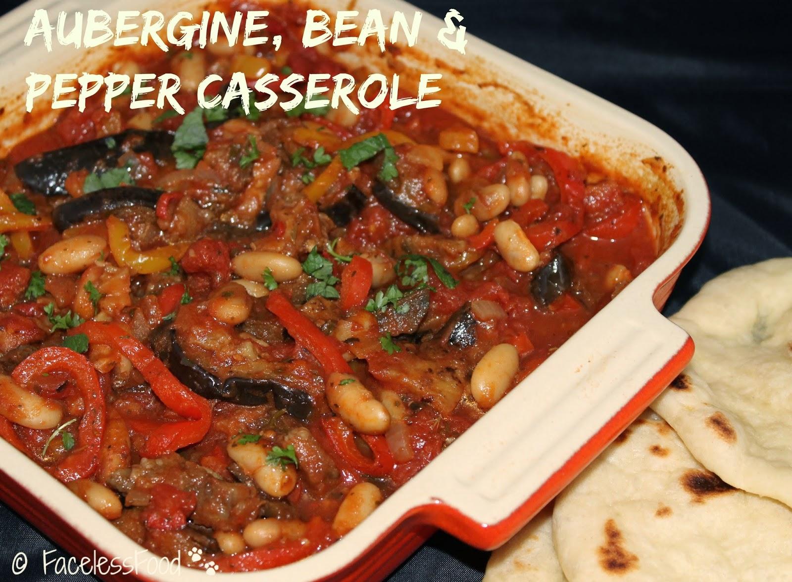 Aubergine, Bean & Pepper Casserole