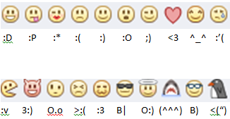 Emoticon facebook
