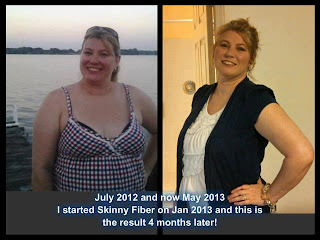 Does Skinny Fiber really work? Picture of Torri's weight loss.