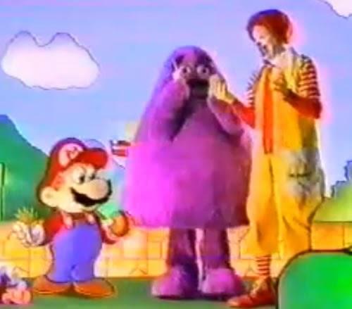 Propaganda do Mc Lanche Feliz em 1990. Apresentação da série de colecionáveis do Super Mario 3.