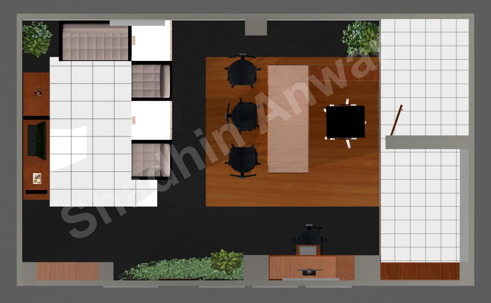 Shadhin 39 s personal blog 3d views of local government for Single room office design