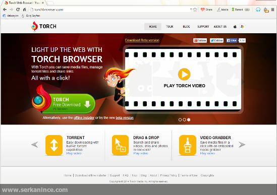 torch web tarayıcısı