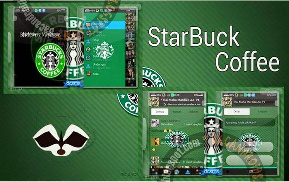 Download BBM Mod Tema StarBuck Coffee Apk Free