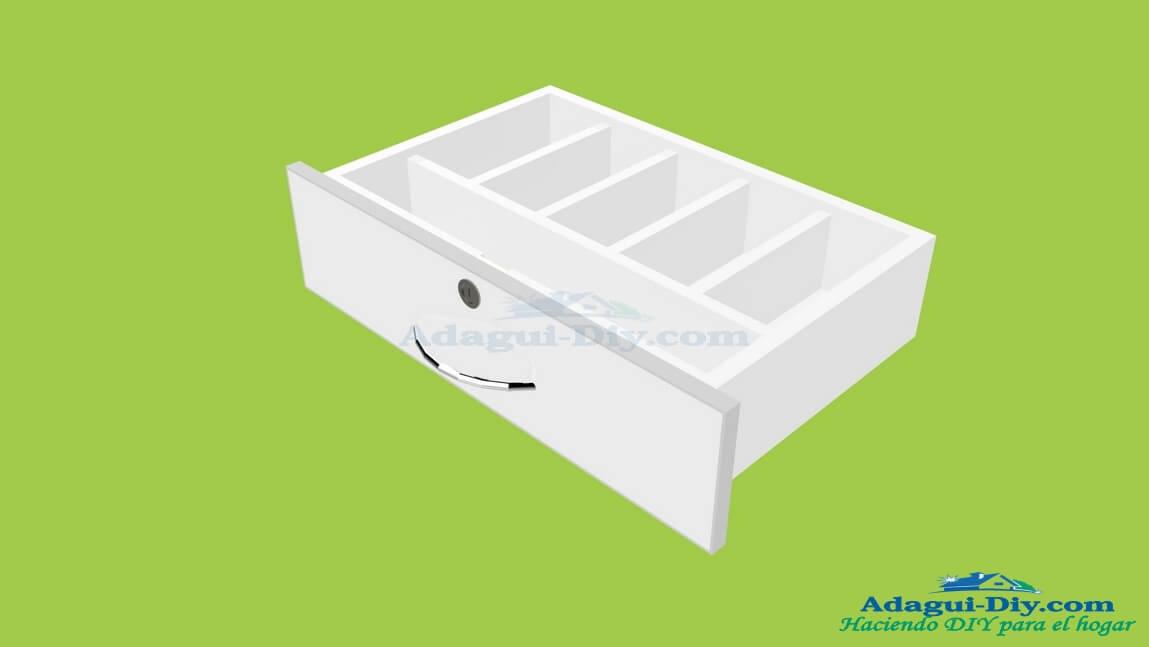 Dise o cajones muebles de cocina con diviciones interiores for Muebles de cocina basicos
