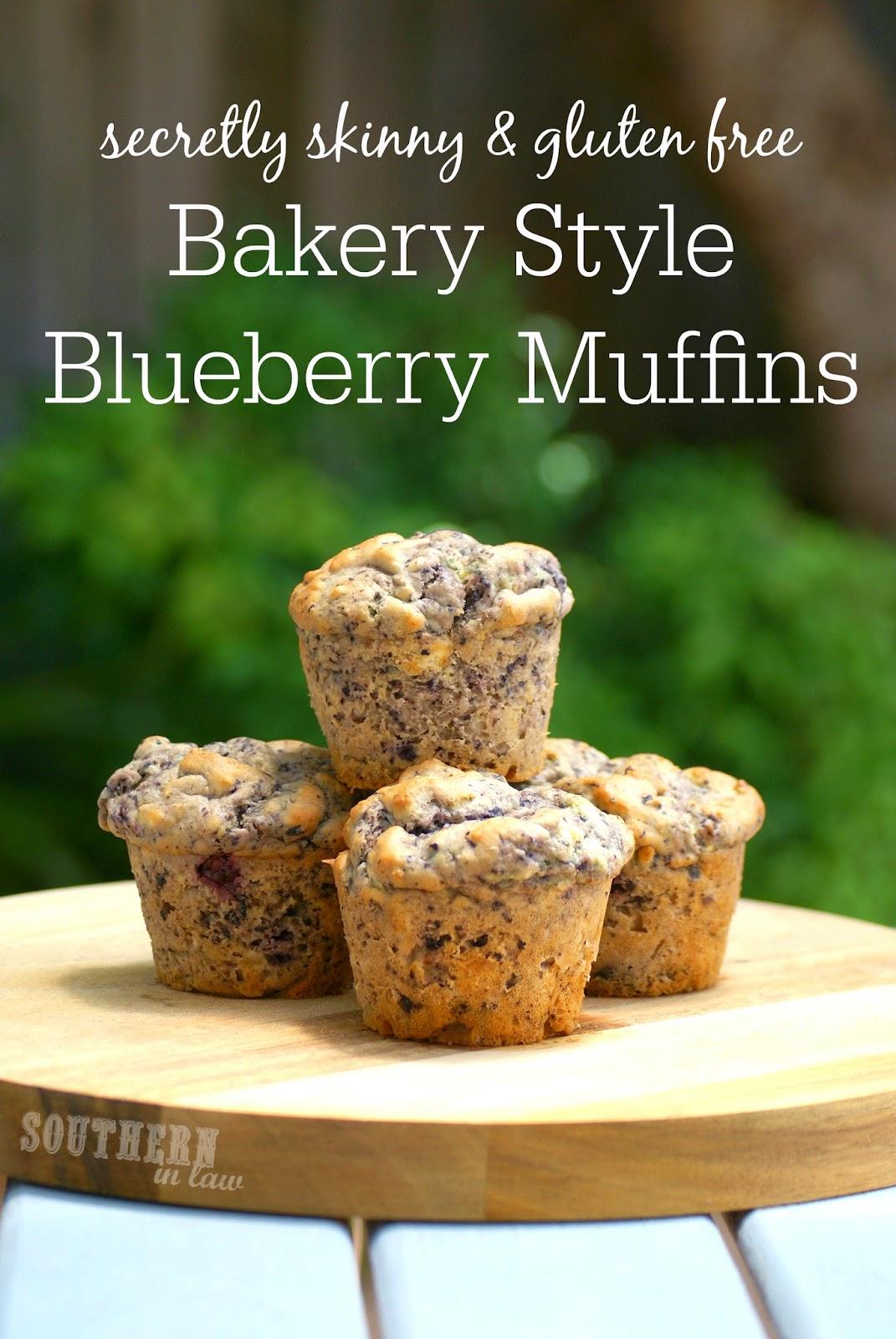 Healthy Bakery Style Blueberry Muffin Recipe - low fat, gluten free, healthy, skinny recipe, freezer friendly, healthy lunchbox snacks,