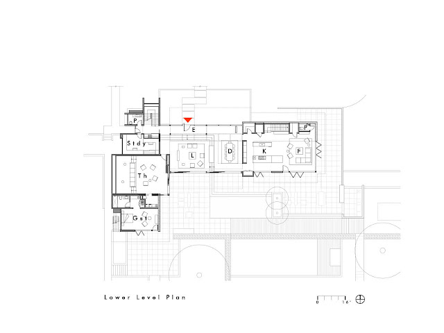 Ground floor plan of Oz House in Silicon Valley