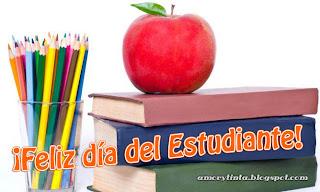 libros manzanas lapices colores