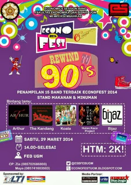 Econo Fest 2014 Rewind to 90's di FEB UGM
