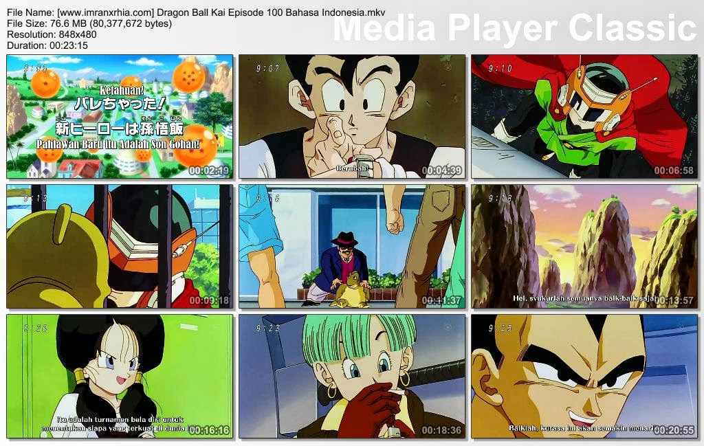 Download Film / Anime Dragon Ball Kai Episode 100 (Ketahuan! Pahlawan Baru Itu adalah Son Gohan) Bahasa Indonesia
