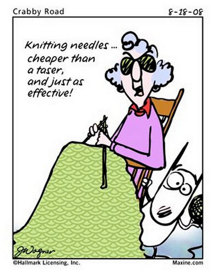 Knitting Humor Cartoon : Maxine quotes for october quotesgram