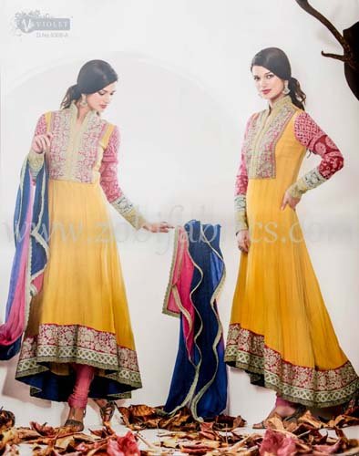 Zobi Fabrics Latest Party Wear Outfits Collection 2013 For girls Women 1 - Zobi Fabrics Latest Party Wear Outfits