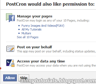 Schedule Your Facebook Status