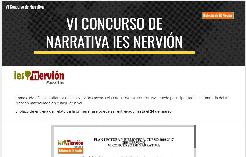 VI CONCURSO DE NARRATIVA
