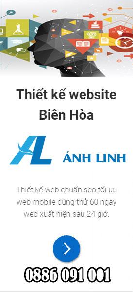 Thiết kế web chuẩn seo Biên Hòa