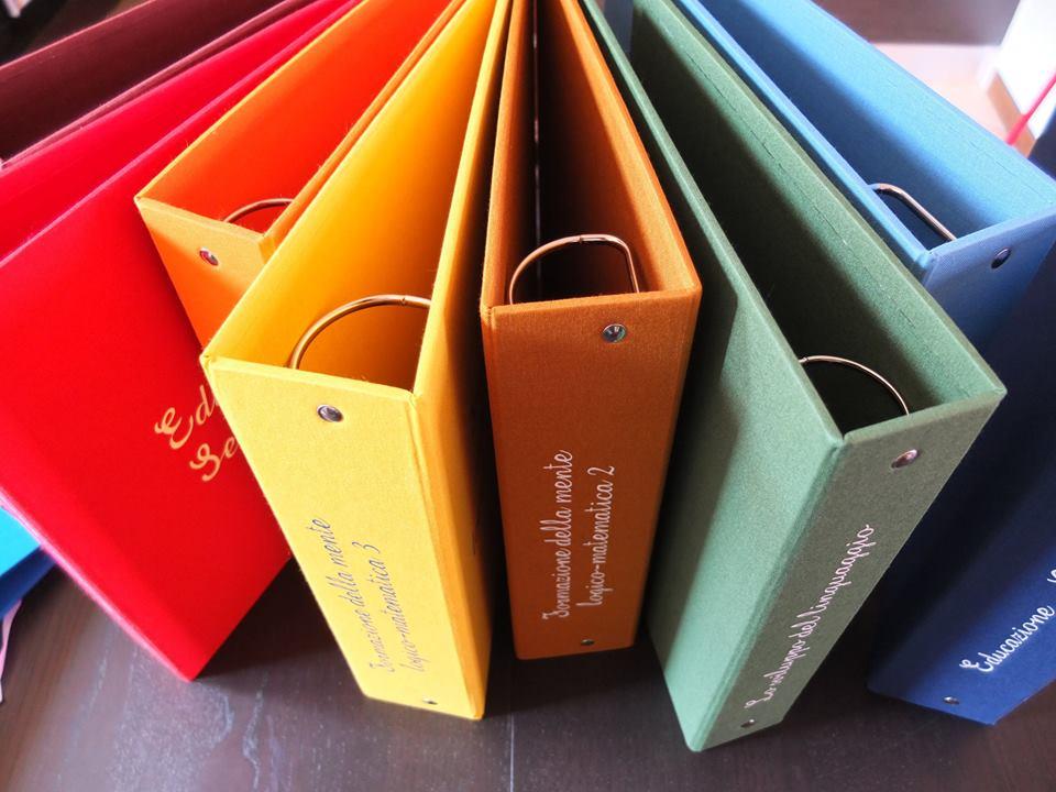 raccoglietore ad anelli-cartellina-colorful