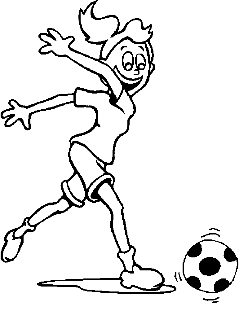 Sports Photograph Coloring Pages Kids