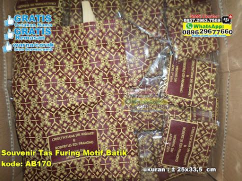 Souvenir Tas Furing Motif Batik grosir