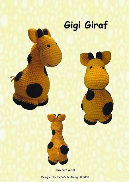 crochet patterns giraffe themed- crochet toys