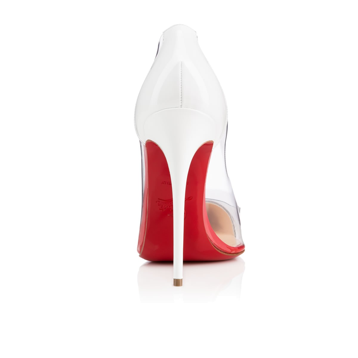 boutin shoes - CHRISTIAN LOUBOUTIN DEBOUT 120MM PVC BLACK / WHITE PATENT LEATHER ...