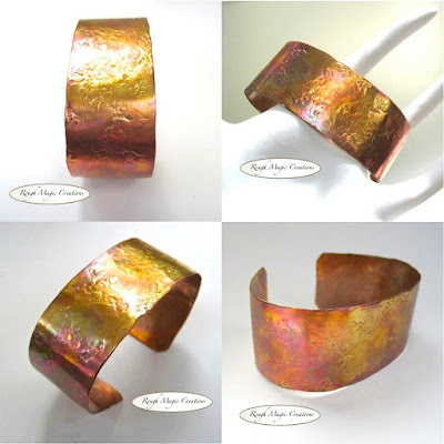 Rustic Copper Cuff Hand Forged by Rough Magic Creations