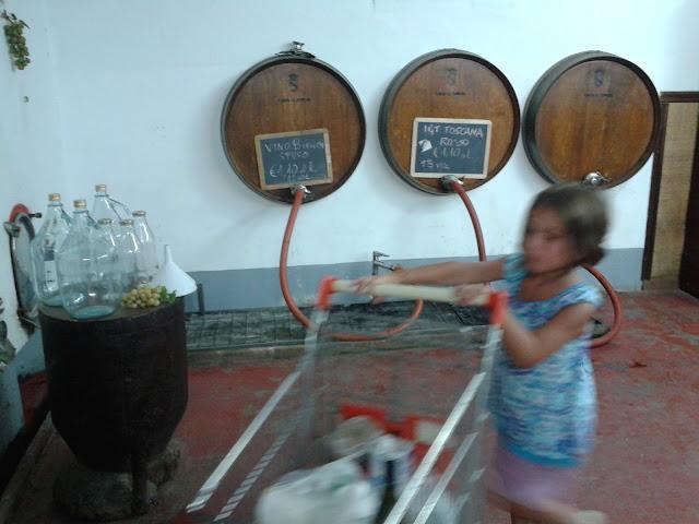 Not just food - vino sfuso at Tenuta la Parrina