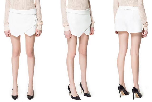 Zara jupe-short blanche