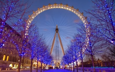 The London Eye at Christmas
