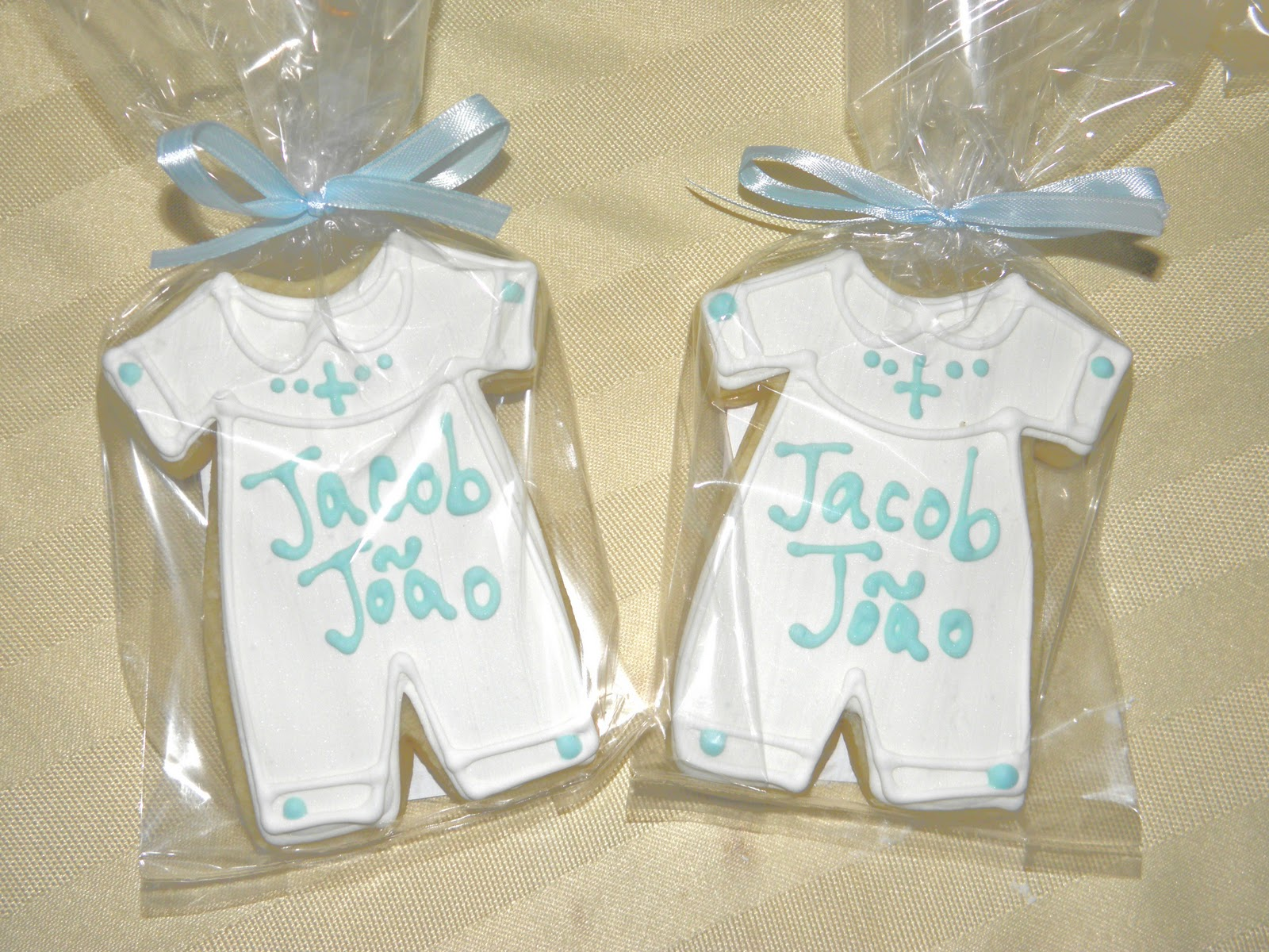 Cookie dreams cookie co boy christening cookie favors for Baby christening decoration ideas