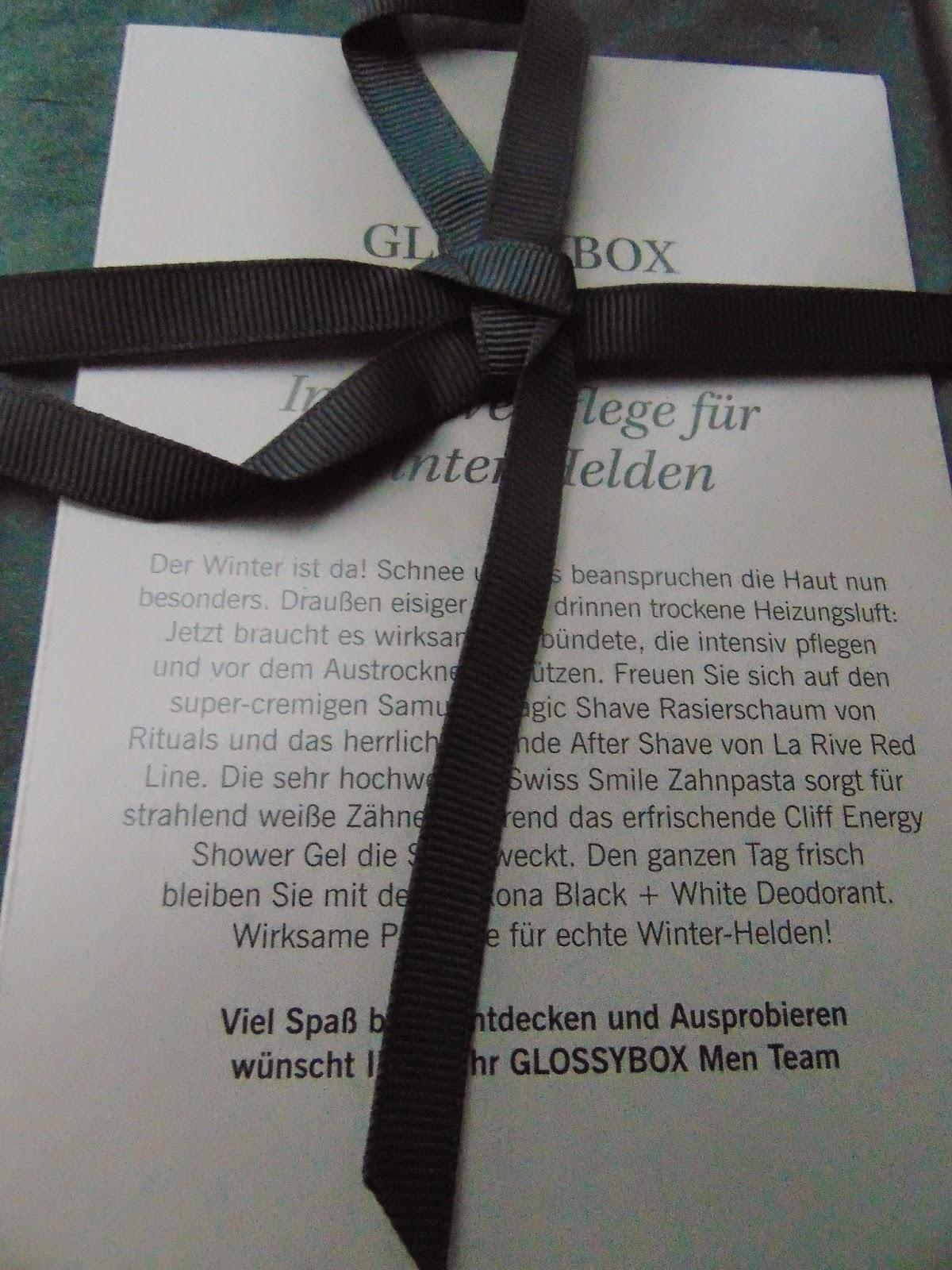 Glossy Box Men - Intensive Pflege für Winter-Helden - www.annitschkasblog.de