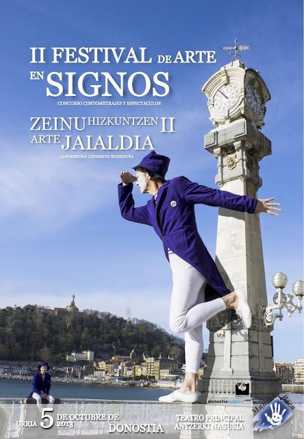 II Festival de Arte en Signos. Donostia. 5 de Octubre.  Cartel+Reloj+copia