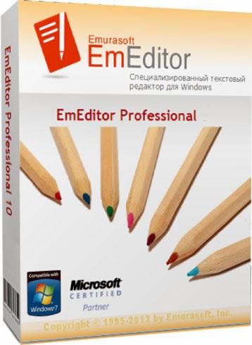 Скачать Emurasoft EmEditor Pro. Текстовый редактор.