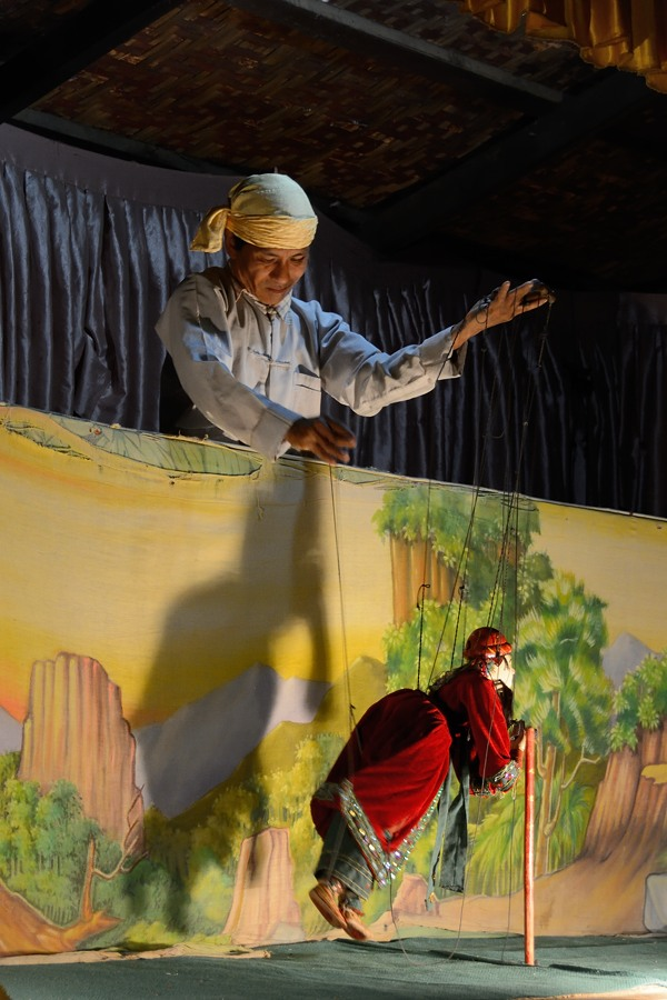 Marionette or puppet show at Bagan, Myanmar